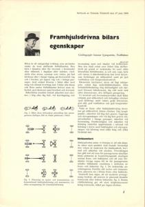 Framhjulsdrivna bilars egenskaper - Gunnar Ljungström